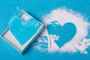 バレンタインに青のハート