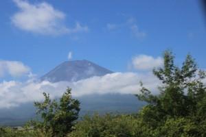 登山する山の風景